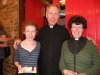 The vicar with daughter Maria and wife Jules