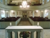 Looking west across altar