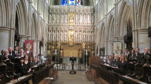 St John's Wood Chamber Choir in the gothic choir of Southwark Cathedral