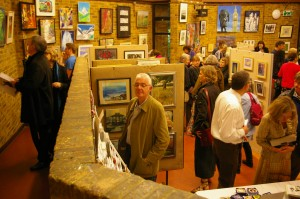 An art show in the Church Hall