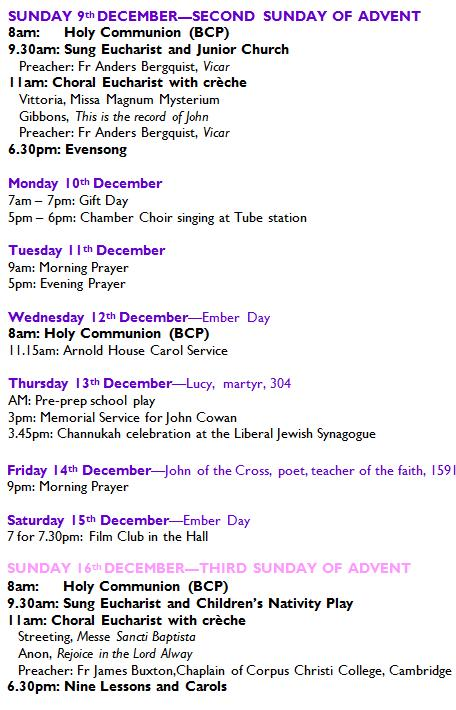 9thdec | St John's Wood Church