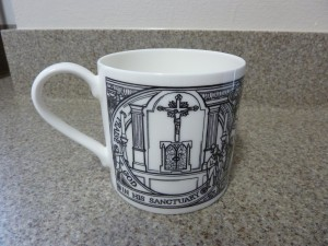 The mug's design was created by our curate, Fr Owen Dobson, and shows features of the church over our 200 year history