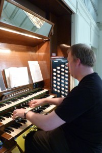 Our director of music, Michael Cayton, at the organ