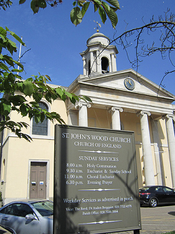 The facade of St John's Wood Church