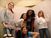 Young people in the Crypt Youth Club